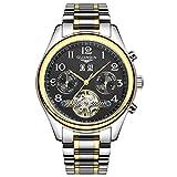 guanqin Tourbillon Uhren CLASSIC Saphir Wasserdicht Armbanduhr Herren Automatik Mechanische Wind bis Armbanduhr Gold Schwarz