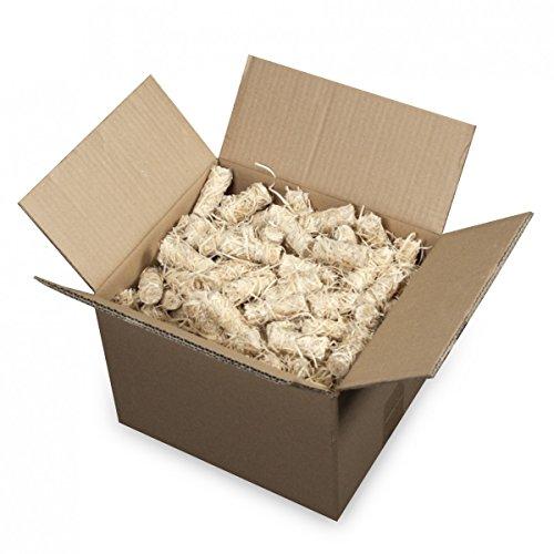 mgc24® Anzünder aus Holzwolle und Wachs Ofenanzünder Kaminanzünder Grillanzünder Ökologisch Kaminholzanzünder Holzanzünder 6kg (ca. 500 Stück) -