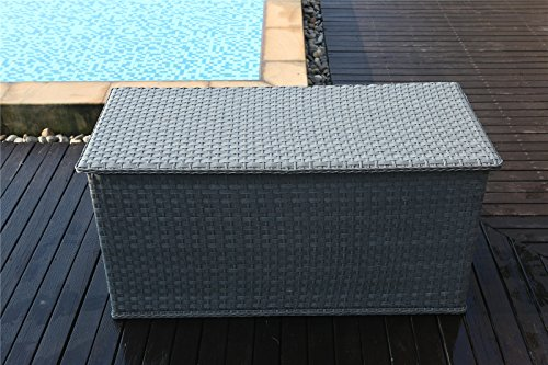 Yakoe 21219 147x67x70 Cm Waterproof Rattan Garden Storage Box