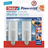 tesa Powerstrips Hooks Large TREND Chrome