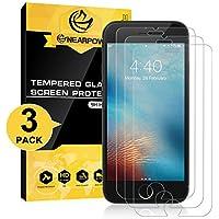 [3 Pack] iPhone 6/6s Pellicola Protettiva, Nearpow Pellicola Protettiva in Vetro Temperato per iPhone 6/6s [2.5D Bordi Arrotondati][3D Toccare Compatibile][Elevata Durezza][Garanzia a Vita]