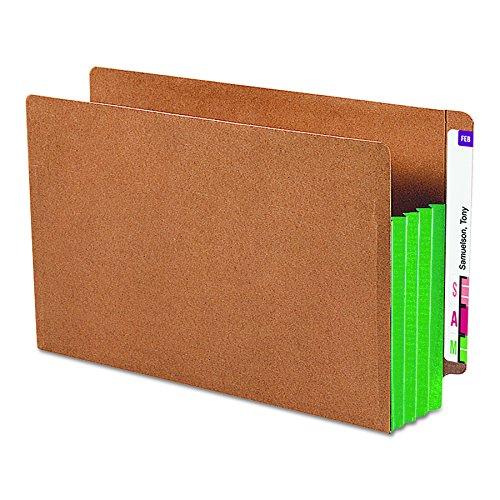 SMEAD 74680Redrope Ende Tab Datei Taschen, Grün Tyvek Zwickel, 3-1/5,1cm Expansion, 10/Box (Tasche Datei-ordner Registerkarte)