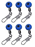 Pangda 20 Packung Fishing Swivels Angelschnur zum Haken Swivels Shank Clip Connector, Blau