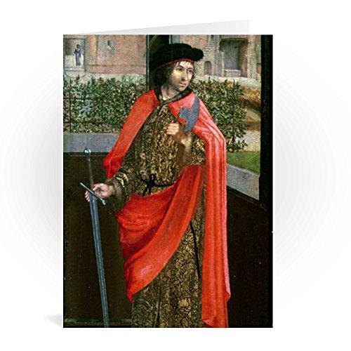 St. Crispin, 16th century by Dutch School - Grußkarten (2er Packung) - 17,8x12,7 cm - Standardgröße - Packung mit 2 Karten - Art247 - 16th Century Portraits