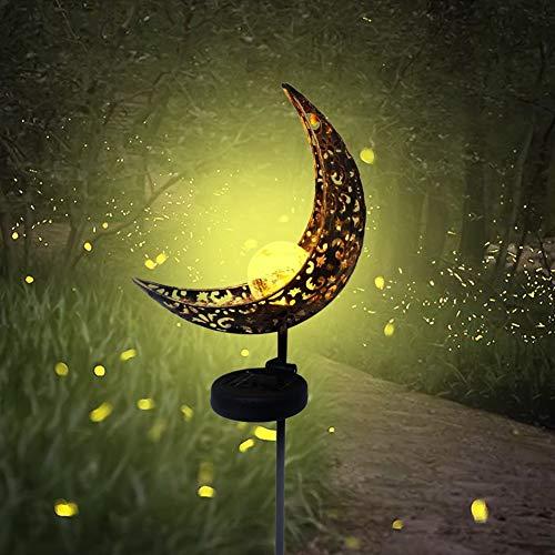 Leinggg Moon LED - Hohleisen Mondform Solar Licht Outdoor Gartendekoration