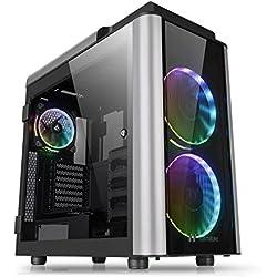 Thermaltake Level 20 GT RGB Plus Full Tower PC Case - Caja de Ordenador, Color Negro y Plata