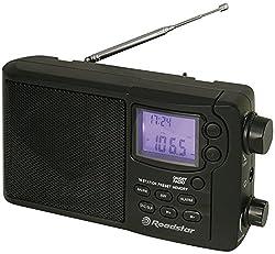 Roadstar TRA-2425PSW Weltempfänger (digitaler Uhr, Wecker, Sleep-Funktion) schwarz
