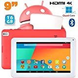 Tablette 9 pouces Android 6.0 Tactile HDMI 4K 1,5GHz 1Go RAM Rose 16Go