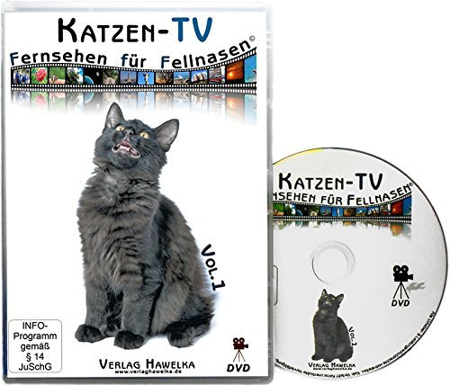 *Katzen-TV – Fernsehen für Fellnasen – Vol. 1 – Der ultimative Katzenspaß! Das Geschenk für Katzen – Video für Katzen*