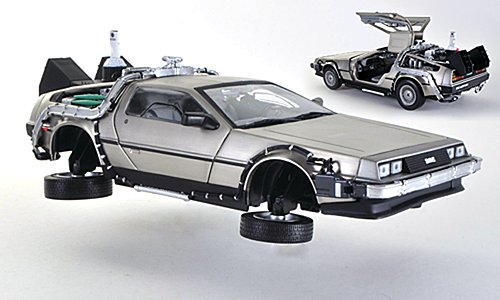 De Lorean DMC-12 Time Machine, Back to the Future II, Modellauto, Fertigmodell, Sun Star 1:18 (Back To The Future Time Machine)