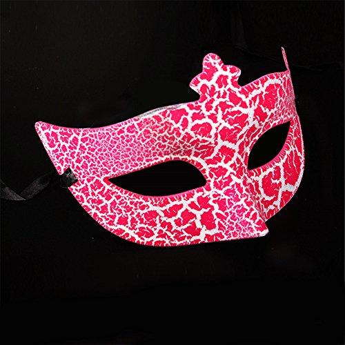 -up Tanz Show Gebäck Party Prinzessin Schönheit Galvanisch Malerei Crack Masken,Rose Red (Red Skull Halloween-make-up)