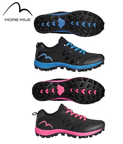 More Mile Cheviot 3 off pour femmes route sentier chaussures Black / Pink