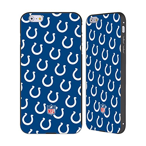 Ufficiale NFL Marmo 2017/18 Indianapolis Colts Nero Cover Contorno con Bumper in Alluminio per Apple iPhone 5 / 5s / SE Pattern