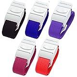 Pack de 5diferentes color Quick Release Medical Torniquetes (oscuro))