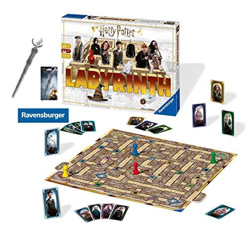 HARRY POTTER Das verrückte Labyrinth von Ravensburger in der Welt Spieleklassiker für die ganze Familie 4005556260317 Pewter Key Ring: Harry's Wand (Zauberstab Potter Mit Harry Karte)