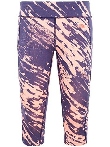 North Face Pulse Legging Femme, Bleu Foncé Neon Peach Paintball Print