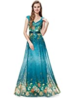 Ever Pretty Womens Printed Floral Lace Long Formal Evening Party Dress 08386