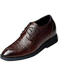 Herring Herring Santano - Zapatos de cordones para hombre marrón marrón oscuro (cocodrilo), color marrón, talla 43,3 EU