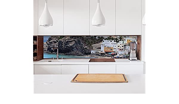 ALLE UNTERGRÜNDE Küchenrückwand selbstklebend Insel Fliesenspiegel Folie