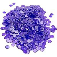 Royal Bingo Supplies - Pack de 1000 fichas de bingo de 1,9 cm - GBIN-305, Púrpura