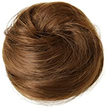 PRETTYSHOP Bun Updo postiche, ruban de cheveux, queue de cheval, extensions cordon, Chouchoumarron clair # 12 DC14