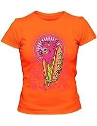 Junk Food Cooles Party Damen T-Shirt