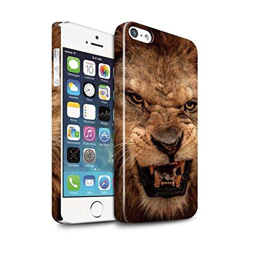STUFF4 Glanz Snap-On Hülle / Case für Apple iPhone X/10 / Eidechse Muster / Wilde Tiere Kollektion Löwe