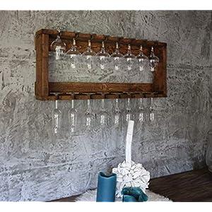 Holz Gläser Regal passend zum Wein Regal fertig montiert braun