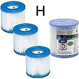 4 Cartouches de Filtration Intex pour filtre piscine - Intex TYPE H