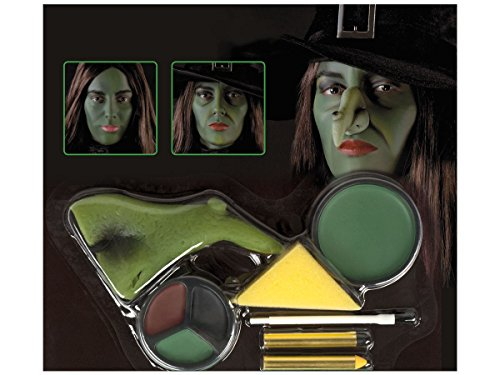 e Schminkset 45081 Maske Hexenkostüm Make Up Kit Hexe Fasching Halloween ()