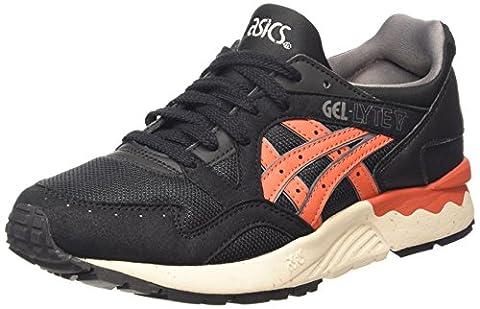 ASICS Gel-lyte V, Unisex-Erwachsene Sneakers, Schwarz (black/chili 9024), 43