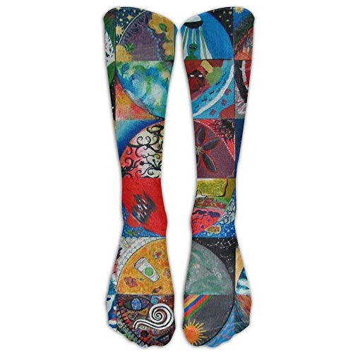 Yuerb Calze Alte Gifts - Dye Tie Weed Art Print Stockings Breathable Trekking Socks Sports Socks for...