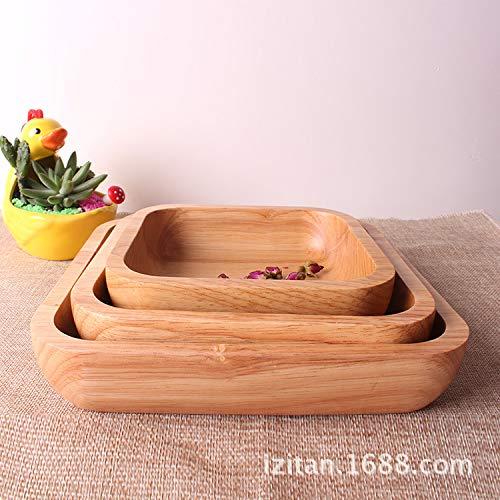 XLCLSA asda Japonais en Caoutchouc Bois carré Plat à Dessert Bois Massif Original Unique Vaisselle en Bois Plat en Bois en Caoutchouc Bois 15 * 15 * 3 cm