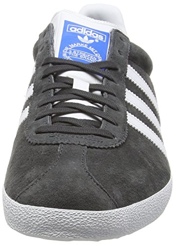 adidas Gazelle OG, Baskets Basses Homme Gris - Grau (Dgh Solid Grey/Ftwr White/Dark Grey)