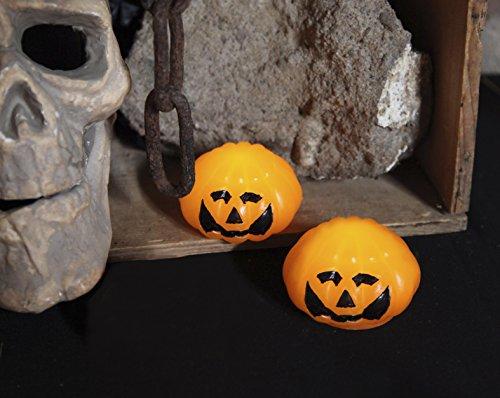 ie lustige gruselige Tisch Dekoration (2er Set LED Kerzen Pumpkin) ()