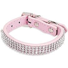 Freebily Collar de Seguridad Ajustable para Mascota Perro Cachorro con Diamantes Artificiales