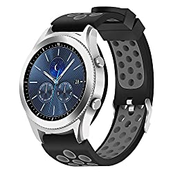 Samsung Gear S3 Fromtier Classic Bands Hagibis Silicone Sports Strap For Samsung Gear S3 Frontier Or Samsung Gear S3 Classic (Gray)