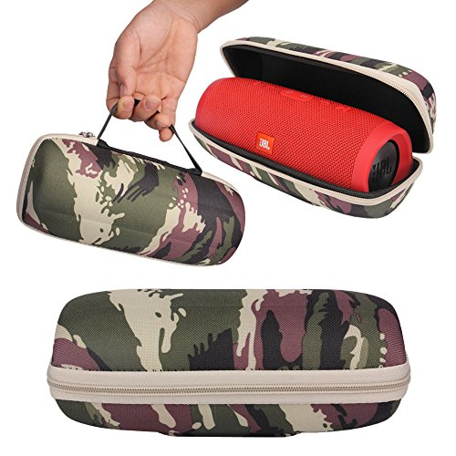 Junsi Travel Zipper Hard Case Cover Pouch Bag Box Holder Fall Abdeckung Hülle for JBL Charge 3 III Bluetooth Speaker (Camouflages) 3 Hard Case Travel Cover