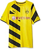Puma Herren Trikot BVB Home Shirt ACTV Authentic with Packaging and Sponsor Logo, Cyber Yellow-Black, L, 746490 01