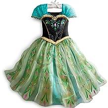 MSC Disfraz de Anna de Frozen Fever, para Mujer, vestido de Princesa