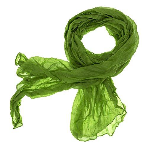 DOLCE ABBRACCIO CRAZY MAMA Damen Schal Halstuch Tuch Damenschal aus Baumwolle MASH Schals Ganzjährig Frühling Sommer (Apfelgrün)