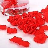 Badekonfetti ROSE & HERZ Badeset 14x Rosen, 600 Rosenblätter aus Seife mit Schwimmkerzen für die Badewanne Geschenkidee Valentinstag Badeset