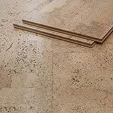 CORCASA Korkboden Design coloriert lackiert Klicksystem warmer Kork Bodenbelag...