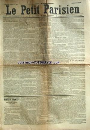 PETIT PARISIEN (LE) [No 4886] du 15/03/1890 - LES SACRIFICES HUMAINS CONSEIL DES MINISTRES LA DEMISSION DE M. TIRARD LE REGIME DOUANIER EN TUNISIE LA CONFERENCE INTERNATIONALE DE BERLIN A LA CHAMBRE MORTES & VIVANTES !