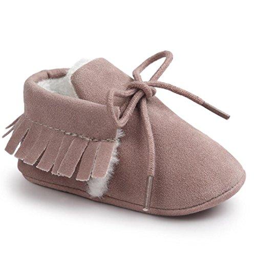 Babyschuh Longra Baby Mädchen Soft Sole Schneestiefel weiche Krippe Schuhe Lauflernschuhe Kleinkind Stiefel (0-18 Monate Baby) Purple