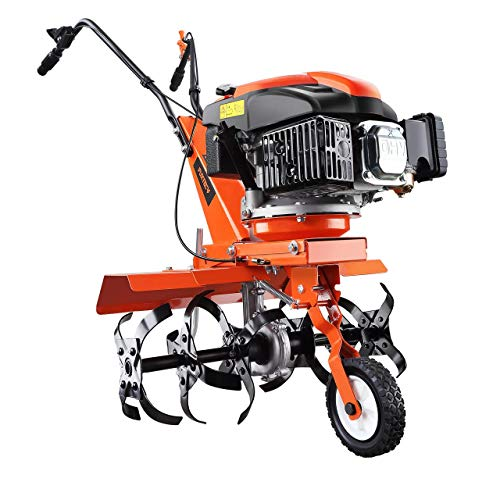 FUXTEC Benzin Gartenfräse SET FX-AF1139 inkl Breitenerweiterung Motorhacke Ackerfräse Bodenfräse Bodenhacke Kultivator mit Räder 139ccm 2,2KW