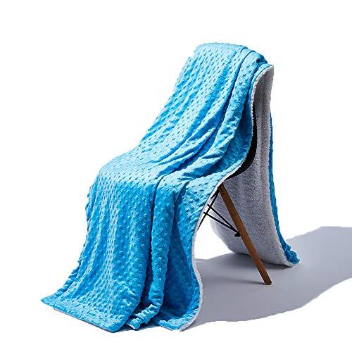 """TANTI Kuscheldecke 78"""" x 63"""" Decke Microfaser Fleecedecke Skandinavischer Mikrofaserdecke Stil Wohndecke Tagesdecke Fleece Weich Sanft Kuschelig (Baby Blau)"""