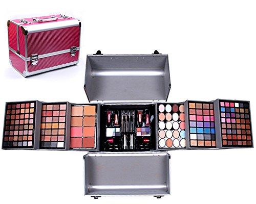 PhantomSky 200 Couleurs Kit de Fard à Paupières Palette de Maquillage Cosmétique Set avec Correcteur, Brillant à lèvres, Fard à Joues et Poudre Pressée #1 - Parfait pour une Utilisation Professionnelle et Quotidienne
