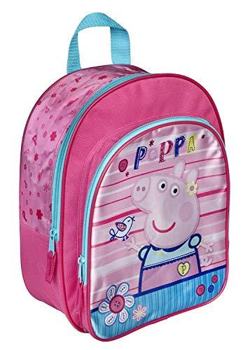 rgartentasche Kindergartenrucksack mit Vortasche Lizenz Rucksäcke Motiv George Peppa Pig Wutz - für Mädchen im Kindergarten oder Kita Geschenk Idee Ostern Geburtstag ()