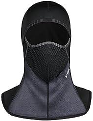 Cagoule Moto Balaclava Noir, Tophie Face Cou Masque | Visage Capuche Chaud Protecteur Couvertures| Coupe-vent poids léger Balaclava pour Moto Randonnée Camping Ski Temps Froid
